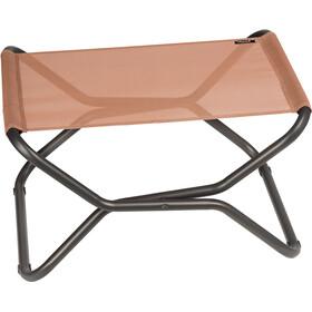 Lafuma Mobilier Next Poggiapiedi con Cannage Phifertex, rosso/grigio
